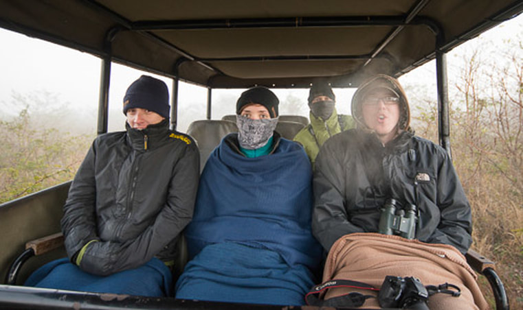 Cold on a game drive